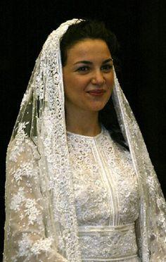 Princess Noor at her wedding ceremony at Zahran Palace in Amman 2 May 2004