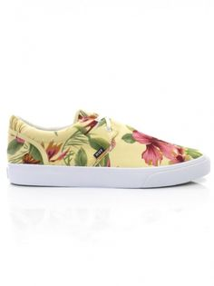 HUF Genuine Blossom Pack Shoes - Ivory Floral