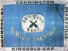Battle Flag of Colonel George Henry Nixon's 48th Tennessee Volunteer Infantry Regiment, Army of Tennessee, C.S.A. Hardee pattern battle flag. Battle honors of Chickamauga, Farmington, Richmond, Ky., Perryville and Ringgold Gap.