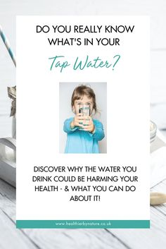 If you regularly drink tap water it's worth considering whether this is supporting your health goals. It may be time to look for alternatives. Holistic Wellness, Wellness Tips, Health And Wellness, Do You Really, What You Can Do, How To Find Out, How To Make Water, Access To Clean Water, Health Trends