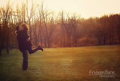 Run and Kiss! Great engagement photo idea