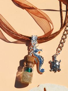 ♥ Looking for an awesome handmade beach necklace gift? You will love this tiny keepsake of the ocean!♥  ♥This is one of a kind wishing bottle