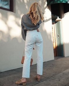 Love white jeans in September.