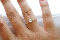 Promise Ring Opal White Stone Promise Ring by BlueRidgeNotions, $58.00