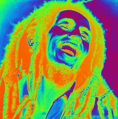 Psychedelic Bob Marley gif image