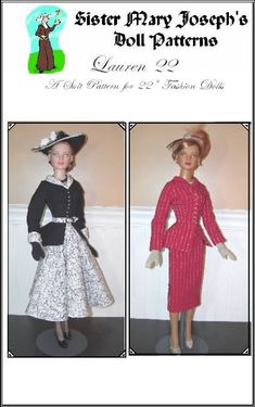 LAUREN 22 PATTERN American Models Tonner 22 inch Fashion Dolls A Hot Little Number for a sexy look. $8.50, via Etsy.