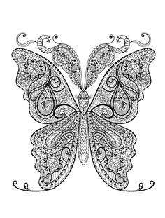 23 Free Printable Insect & Animal Adult Coloring Pages