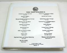 Toxic Torts Litigation II Audio Cassettes Produced By Gregory T. Tort Cases, Emotional Stress, Video Home, Law, Office Supplies, Audio, This Or That Questions, Store, Storage