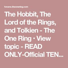The Hobbit, The Lord of the Rings, and Tolkien - The One Ring • View topic - READ ONLY-Official TENGWAR Transcriptions (and TATTOOS) - II