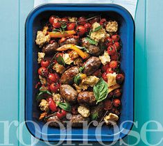 Tomato and sausage dish / Geurige tamatie-en-wors-gebak South African Recipes, Ethnic Recipes, Come Dine With Me, One Pot Dinners, English Food, Serious Eats, Quick Meals, Tray Bakes, Easy Dinner Recipes