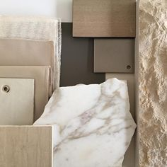 NB Design Group | Seattle, WA | Material Palette from our Columbia River project | Marble | Stone | Leather | Textiles | Metal | Seattle Interior Design | In Progress