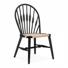 Hans J Wegner Style Peacock Dining Chair - Black - Hans J Wegner from Cult Furniture UK