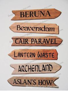 Instant Download / Chronicles of Narnia / C. S. Lewis / Printable Wooden Arrow Signs / Birthday / Weddings / Party Decors / PDF Digital