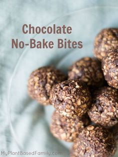 Chocolate No-Bake Bites are allergy-friendly (gluten-free + dairy-free with nut-free option). A healthier take on traditional no-bake cookies.