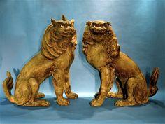 Pair of Japanese Kamakura Period Koma Inu (Lion Dogs) circa 1304-1305 | Exhibitor: Robert Lloyd