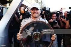 Nico Rosberg of Germany and Mercedes GP celebrates with his trophy during the Australian Formula One Grand Prix at Albert Park on March 20, 2016 in Melbourne, Australia.