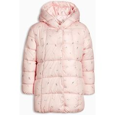 Padded Jacket (3mths-6yrs) ($13) ❤ liked on Polyvore featuring outerwear, jackets, pink jacket and padded jacket