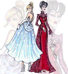 Disney princess and villan