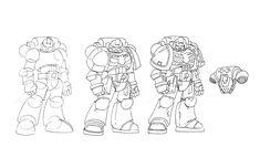 Drawing a Space marine by NachoMon.deviantart.com on @deviantART
