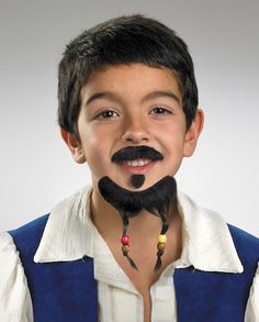 costume facial hair pirate goatee and mustache kid - Halloween Costumes With Facial Hair