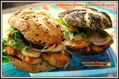 La rica hamburguesa gourmet de pollo   Confirmado