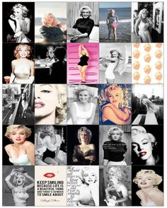 Marilyn Monroe Planner Stickers by ShopStinasProjects on Etsy
