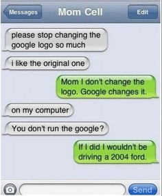 Funny Text Messages - Google logo