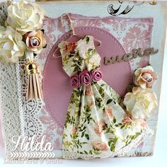 Hilda Designs: Mini Album Shabby Chic con Rocio Cano