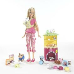 Barbie I Can Be... Pet Sitter Playset by Mattel. $49.95. From the Manufacturer                Barbie doll has so many careers! Barbie doll can be a baby photographer, an art teacher or even a pet sitter! This fun fashion doll wears trendy clothes with hip accessories and includes lots of play pieces for any assignment. The tools girls need to play out these real life careers are included. Dolls cannot stand alone.                                    Product Des...