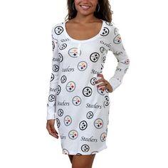 Pittsburgh Steelers Ladies Uptown Nightshirt - White