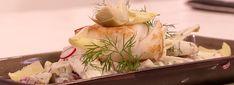 Wij kennen hem vooral als kabeljauw, een zacht en mooi stukje witte vis. Mounir maakt gebakken kabeljauw met aardappelsalade.