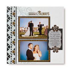 Today, Tomorrow & Always Divine #Scrapbook Layout Project Idea from Creative Memories #wedding    http://www.creativememories.com
