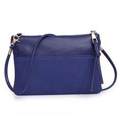 Oferta: 3.59€. Comprar Ofertas de Tongshi Las mujeres de moda bolso bandolera bolso grande damas monedero (azul) barato. ¡Mira las ofertas!