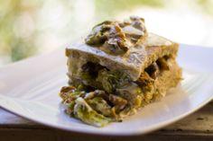 Lasagnetta di Polenta Taragna con Funghi, Broccoletti e Fiori di Zucca