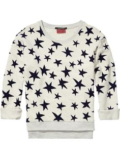 Shop the latest women's clothing and apparel from the official Maison Scotch webstore. Sweater Jacket, Men Sweater, Ropa On Line, Star Print, White Tops, Long Sleeve Tops, Sweatshirts, Hoodies, My Style