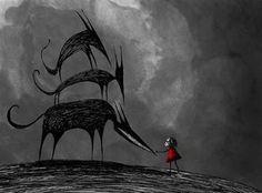 The Monolith • mythoughtmolecules: Artwork by Gaston Vinas the...