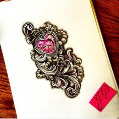 Heartdiamond #jdtattoostudio #diamond #heart #sketch #эскиз #сердце #бусы #tattoo #алмаз