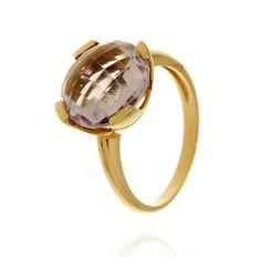 MILANO 12 Ref: 37988 Sortija realizada en oro amarillo. Una amatista, engastada por cuatro garras planas, es el centro de la pieza.