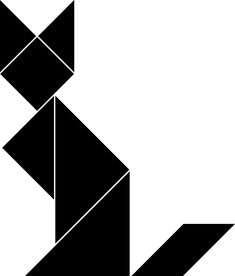 'Geometric Fox' Sticker by conceptkid Geometric Fox, Geometric Decor, Framed Prints, Canvas Prints, Art Prints, Polygon Art, Black Kitty, Design Products, String Art