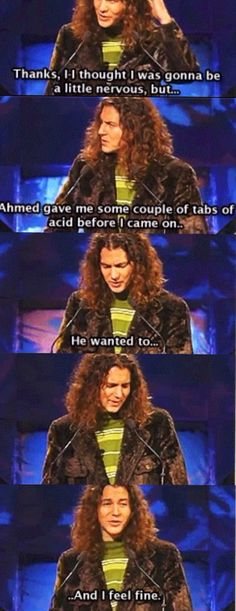 Eddie Vedder inducts the Doors into the Rock & Roll Hall of Fame in 1993 HAHAHAHA!