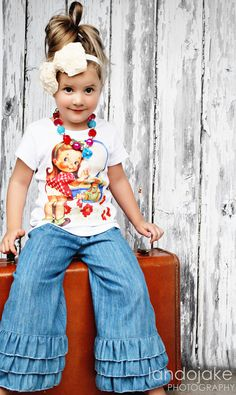 Vintage Pretty girl  Childrens T shirts by MonkeyTees on Etsy, $20.00