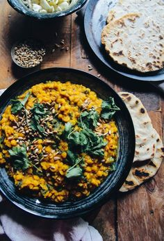 nourishing vegan channa dal with kale