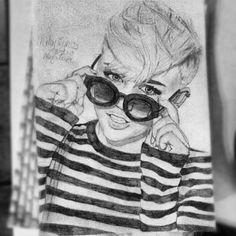 miley cyrus drawing :)