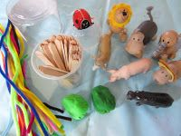 toddler, kids, activities for kids, fine motor skills, playdoh, pipe cleaners