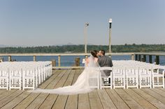 ceremony needs decoration...but the idea of a picture in the chairs after the ceremony is so cute...maybe for sunset?