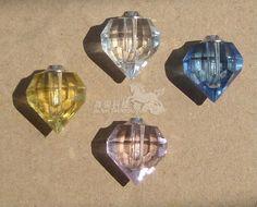 unique heart shape mini crystal perfume bottle
