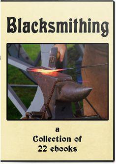 BLACKSMITHING - 22 Books DVD Set, Practical blacksmithing, Farm Blacksmithing