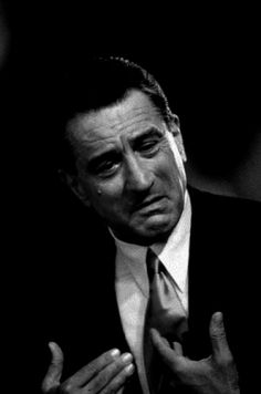 Robert De Niro in Analyze This...(my favorite movie of his next to Taxi Driver, Raging Bull, Goodfellas and Cape Fear).