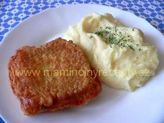 Filé v sýrovém kabátku Food 52, Mashed Potatoes, Food And Drink, Menu, Cooking, Ethnic Recipes, Decor, Whipped Potatoes, Menu Board Design