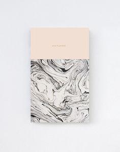 2014 Daily Planner Calendar in Marble/Pink // cover graphic design Web Design, Book Design, Cover Design, Layout Design, Design Art, Print Design, Identity Design, Graphic Design Branding, Typography Design